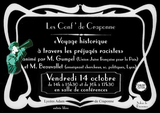 Les conf 39 de craponne voyage historique travers les for Lycee craponne salon