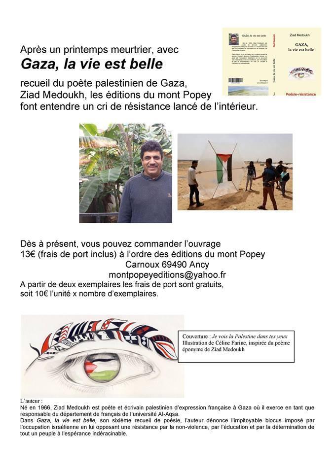 Nouveau Recueil De Poésie De Ziad Medoukh Sur Gaza Gaza